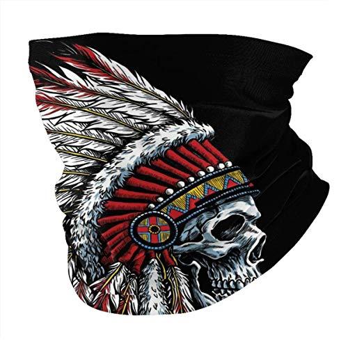 Multifunktionstuch | Schlauchtuch | Bandana | Halstuch | American Original Motorcycle Indian Skull Neck Gaiter/Cooling Neck Gaiter Mask for Kids/Gaiter for Men Summer/Face Shield Mask for Child