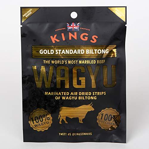 Kings Gold Standard Wagyu Beef Biltong Box of 16 x 25g Packs