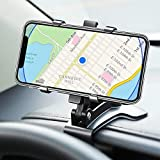 Dashboard Car Phone Holder Mount 360 Degree Rotation with Clip Multi-Function Universal Compatible with iPhone 12 11 Pro Max X XS XR 8 7 6 6s Plus Galaxy Moto and More