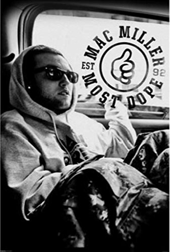 Pyramid America Mac Miller Most Dope Music Album Photo Cool Wall Decor Art Print Poster 24x36