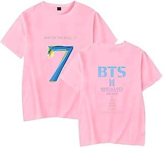 Flyself Girls BTS MAP of The Soul 7 Tshirt Summer Short Sleeve Casual Tee Shirt Blouse Tops Suga Jin Jimin Jung Kook J-Hop...