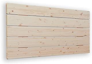 Silcar Home | Cabecero de Madera Modelo Avenco, 90 105 115 145 160cm, Transporte Incluido, Anclajes Incluidos | Cabecero para Camas de Madera Tipo Palet rústico (145 cm)