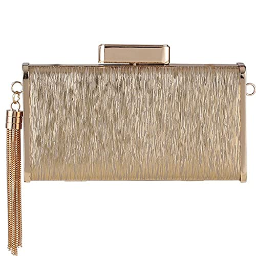 Evening Clutch Purses for Women Tassel Handbag Envelope Bridal Clutch with Removable Chain