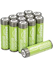Amazon Basics AA oplaadbare batterijen met hoge capaciteit 2400 mAh (verpakking van 12 stuks) voorgeladen