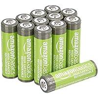 12-Pack Amazon Basics AA High-Capacity 2,400 mAh Rechatgeable Batteries