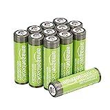 AmazonBasics Piles rechargeables AA haute capacité 2400mAh (Lot de 12) - Pré-chargées