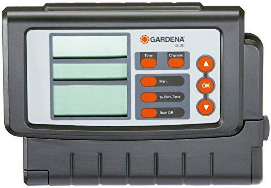 Gardena 1284-20 Programador, Negro, Gris, Rojo