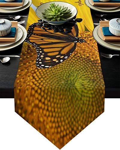 COMMER Camino de mesa, bufandas de aparador Live Love Laugh para decoración de mesa para bodas, ceremonias/banquetes (33 x 228 cm)