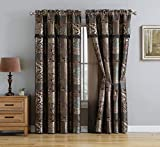 Chezmoi Collection Amelia 4-Piece Brown Teal...
