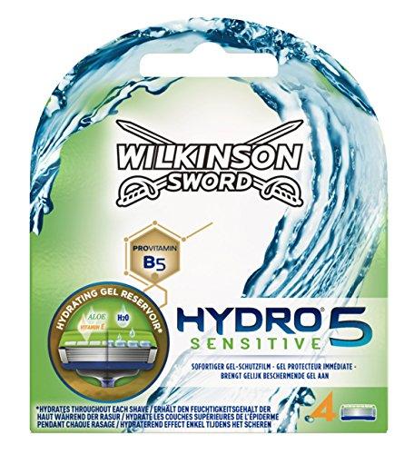 Wilkinson Sword Hydro 5 Sensitive Rasierklingen für Herren Rasierer 4 St