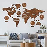 K&L Wall Art Mapa Mundi Decoracion Pared. Mapa del Mundo educativos XXL Grande 3D con...