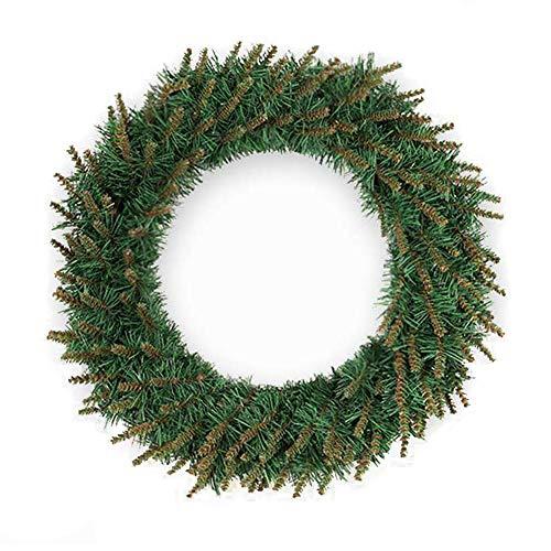 Springisso Kerstkrans Yellow Head Encryption voor voordeur voor Kerstmis thuis of bruiloftsdecoratie