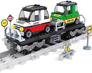 مجموعه قطارهای General Jim's Building Blocks - مجموعه قطار اسباب بازی حمل و نقل اتومبیل - سازگار با مارک های اصلی ساخت آجر
