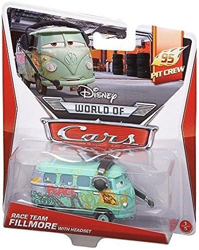 centro comercial de moda Disney World of Cars, 95 Pit Pit Pit Crew Die-Cast, Race Team Fillmore with Headset  1 5, 1 55 Scale by Mattel  el precio más bajo