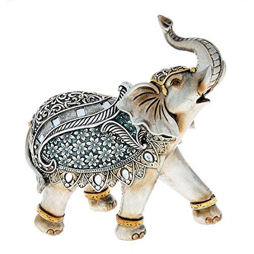 Schöne zum Sammeln Große Stahl Blau Elefant Neu & Verpackt 20cm x 19cm