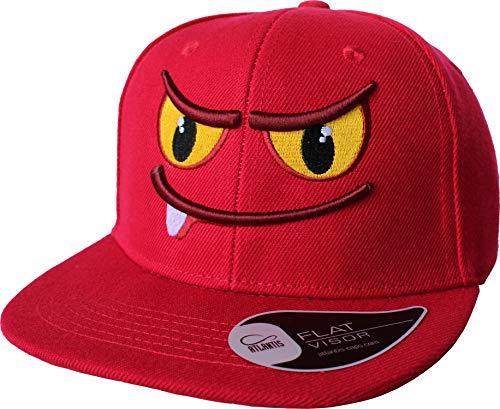 Kinder Cap: Zahnmonster - Mütze für Kinder - Smiley Monster Lustig Comic - Geschenk für Junge-n & Mädchen - Kappe Baseball-Cap Basecap - Kinder-Geburtstag Schule Sport Sonnenschutz (One Size)