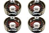 M-Parts 2 Pairs of Self-Adjusting 12-1/4' X 3-3/8' (12.25' X 3.375') Electric Trailer Drum Brake Assemblies Kit for 9,000/10,000 Lbs (9K/10K) Trailer Axles; 2 LH (77-1210-1) + 2 RH (77-1210-2)