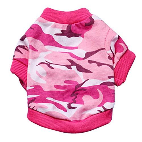 Hey Shop Hundebekleidung für kleine Hunde, Camouflage, mehrfarbig, für Frühling und Sommer