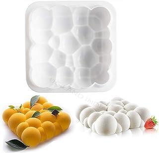 UG LAND INDIA 3D Silicone Cake Mold Mousse Bubble Cloud Square Auspicious Cloud Cake Mould Bubble Cloud Dessert Baking Too...