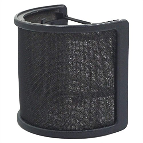 Pop Filter, LEAGY [Upgraded Three Layers] Metal Mesh & Foam & Etamine Layer...