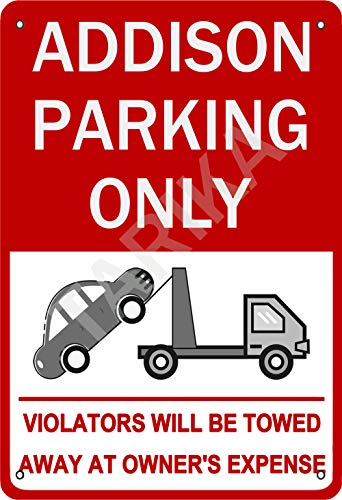 Tarika Addison Parking Only Violators Will Be Towed Aways at Owner'S Expense Iron Poster Vintage Painting Tin Sign for Street Garage Home Cafe Bar Man Cave Farm Wall Decoration Crafts