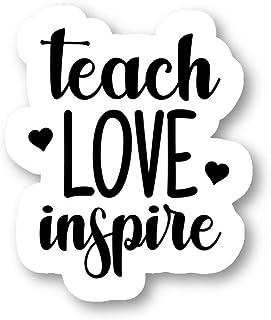 ملصقات إقتباس إلهامي من ملصقات Teach Love - 3 عبوات - مجموعة من 2.5 و3 و4 بوصات - لأجهزة الكمبيوتر المحمول والهاتف وزجاجة ...