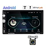 Hikity Android Double Din Car Stereo With GPS 7 Inch Touch Screen Radio