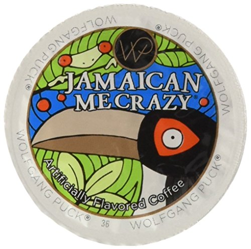 Wolfgang Puck Jamaican Me Crazy Flavored Coffee Single Serve Cups for Keurig, 24 Count (Pack of 2)