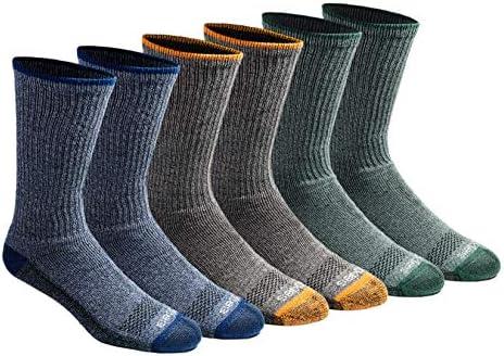 Dickies Men s Dri tech Moisture Control Crew Socks Multipack Heathered Colored 6 Pairs Shoe product image