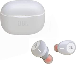 JBL TUNE 120TWS True Wireless In-Ear Headphone with Pure Bass Sounds and Microphone, 5.8mm Driver, White