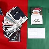 XiYon 30 Pezzi/Set Buon Natale Cartolina di Babbo Natale Cartoline d'auguri di Cartone Animato Fai da Te Biglietto per Auguri di Natale e Capodanno