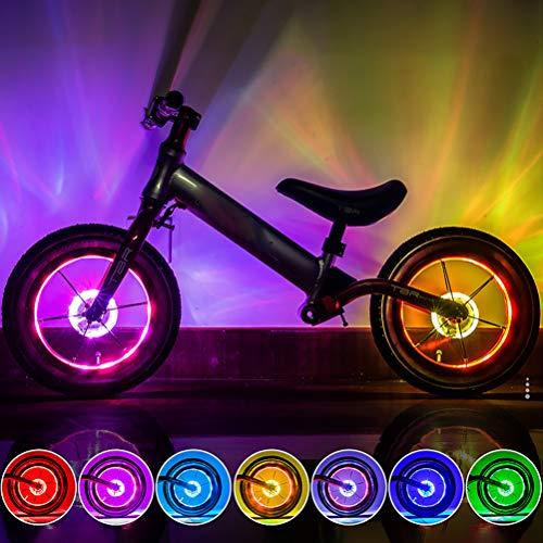 Fangteke Fahrrad Radnabe Lichter USB Wiederaufladbar LED Fahrrad Speichen Lichter Wasserdicht 7 Farbe Fahrrad Sicherheitswarnleuchte für Nachtfahrten