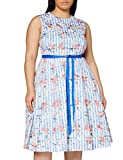 Gina Bacconi Women's Cardella Jacquard Dress Vestido de cctel, Azul, 44 para Mujer