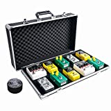 """Ghost Fire Sturdy Locking Aluminum Guitar Effect Pedal Case with Pedal Mounting Tape Fastener, 22"""" x 13.4"""" x4.7"""""""