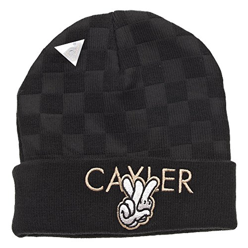 Cayler and Sons Checkers Beanie Bonnet Black Grey Gold
