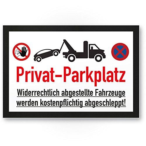 Plaque Parking privé – parkverbot (Blanc/Noir, 30 x 20 CM), plaque signalétique, Interdiction enseigne Parking privé, Parking – Avertissement voitures et véhicules, Env. – Parking freihalten