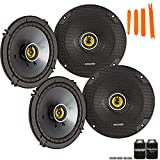 Kicker 46CSC654 - Two Pairs of CS-Series CSC65 6.5-Inch Coaxial Speakers, 4-Ohm