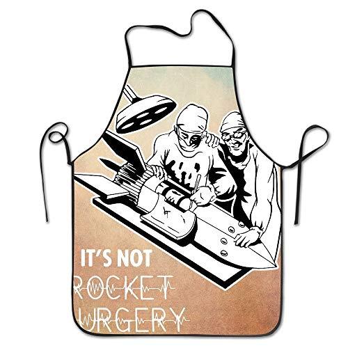 Es ist Nicht Rocket Surgery Print Backschürze für Tailgating BBQ Grill Pit Master Black