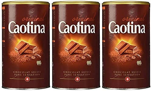 Caotina original, Cacaopoeder met Zwitserse Chocolade, Warme Chocolademelk, 3 Pakken, 3 x 500g