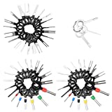 Lohoee 59Pcs Auto Terminals Removal Key Tool Set Car Electrical Wiring Crimp Connector Extractor Puller Release Pin Kit for Car Auto Wire Connector
