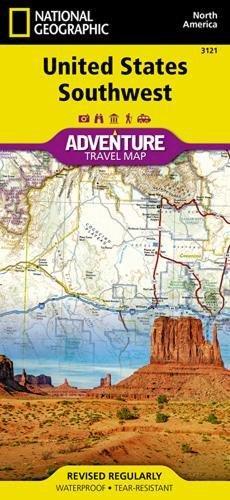 United States, Southwest (National Geographic Adventure Map)