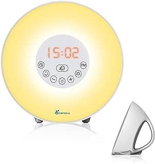 Sunrise Alarm Clock, Vansky Wake Up Light Digital Clock Multi-Colorful Night Light Bedside Lamp with Snooze Function, 6 Nature Sounds, FM Radio, Brightness Adjustable, Touch Control
