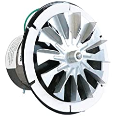 "Replacement for: Whitfield-quest, breckwell, Travis (Avalon & lopi), Quadra-fire, fasco 7021-9129 Fan: 4.75"" diameter, mounting plate: 5.75"", bolt hole centers: 5 3/8"" Shaft: 5/16"" x 1 7/8"", rotation = cw facing shaft, sleeve bearings 3.3"" diameter m..."