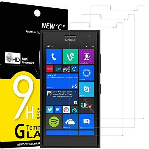 NEW'C 3 Pezzi, Vetro Temperato Compatibile con Nokia Microsoft Lumia 735, Pellicola Prottetiva Anti Graffio, Anti-Impronte, Durezza 9H, 0,33mm Ultra Trasparente, Ultra Resistente