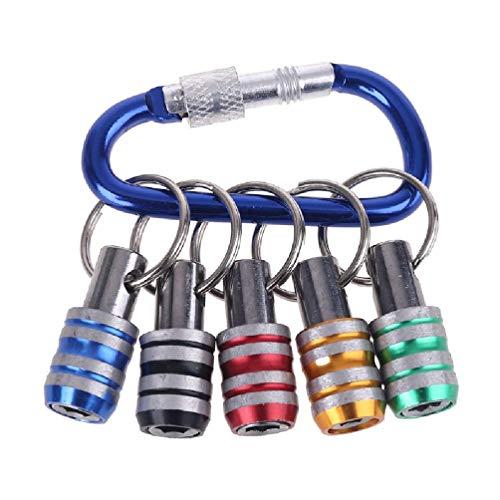 Llavero, destornillador, 5 unidades, 1/4 pulgadas, mango hexagonal, barra de extensión, destornillador de cambio rápido, para conductores eléctricos, controladores de mano y puntas adaptador de broca