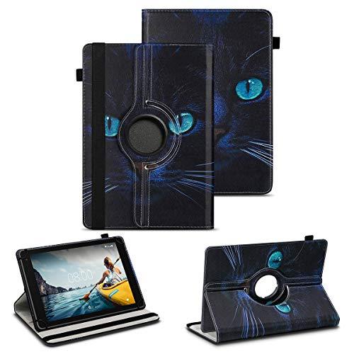 NAUC Tablet Schutzhülle kompatibel für Medion Lifetab P8912 Hülle Tasche Standfunktion 360° Drehbar Cover Universal Hülle, Farben:Motiv 3