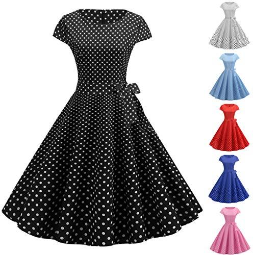Shinehua Rockabilly Vintage stijl (jaren 50), elegante plooirok met polka dot swing-jurk, cocktailjurk, schommels, baljurk, feestjurk