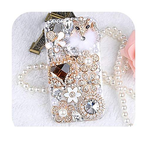 Schutzhülle für iPhone 7, Bling Crystal Diamonds Rhinestone 3D Stones Phone Case Cover für iPhone 7/7Plus/6/6S Handbagfox-For Galaxy S10