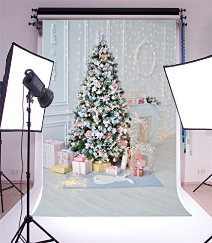 YongFoto 1,5x2,2m Vinilo Fondo de Fotografia Navidad Decoracion de Navidad Adornos para...