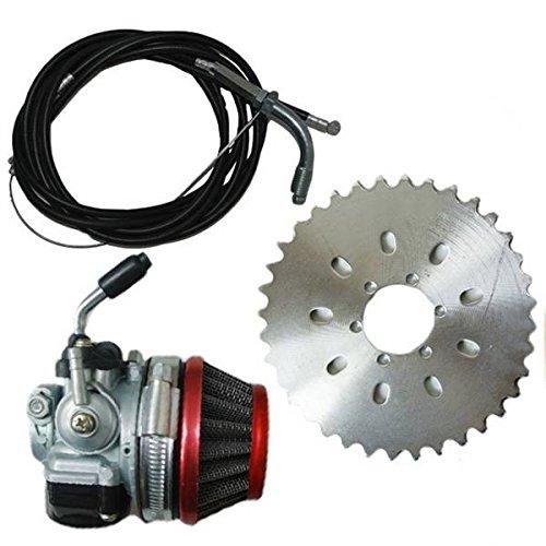 JRL Kit de piñón para motor de bicicletas de 2 tiempos de 49 cc a 80 cc